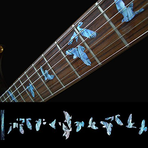 Griffbrett Marker Inlay Aufkleber Decals für Gitarre   Bass-Vögel in  Flug-Blau Grün 7ff2a09266