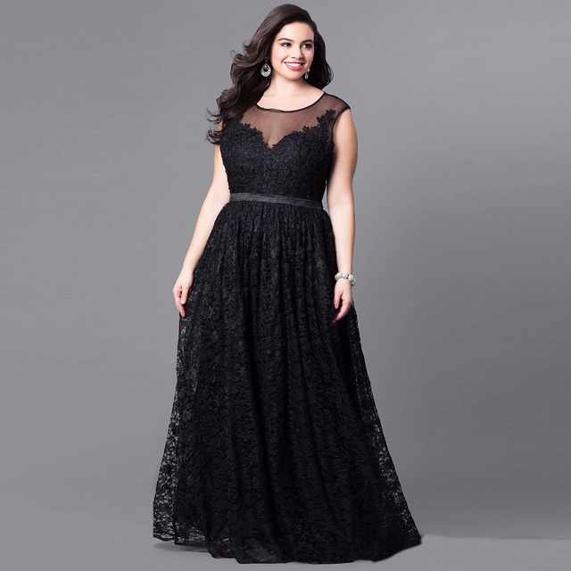 2018 sexy black Elegant large size Maxi Long Dress 5XL 3XL 4XL Woman  Dresses runway Party Vestido Femme Plus Size clothing 6c3c5844b7f3