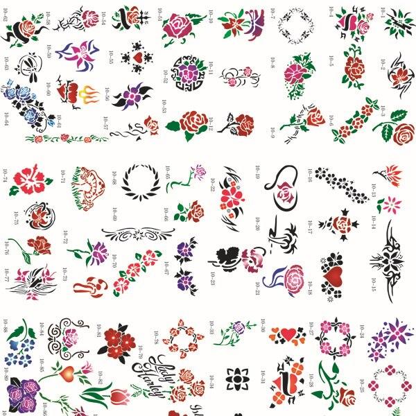 Venta Caliente Del Aerógrafo Tatuaje Plantilla Libro 10 100