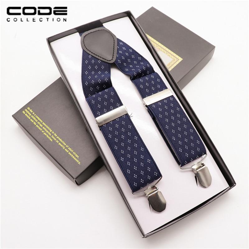 Zakelijke elastische bedrukte jarretel voor heren Klassieke mode Floral verstelbare elastische clip-on-brace jacquard jarretelles