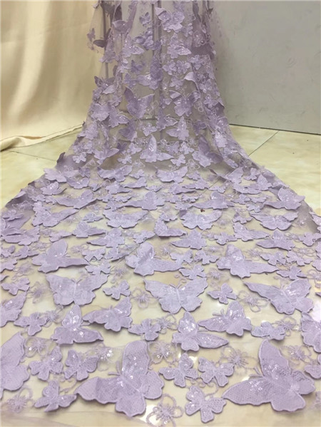French lace embroidery fabric, Nigeria high quality evening dress lace fabric
