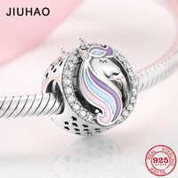 Fashion 925 Sterling Silver Patron saint Unicorn Beads charm Fit Original Charms Pandora Bracelet Jewelry making