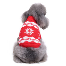 New Autumn/winter Wool Pet Dog Sweaters Christmas Snowflake Stripe Pattern Knitting Sweater for Medium and Big Clothes