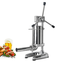 Manual Sausage Stuffers Food Filling Machine Vertical Fillers Stainless Steel Processors With 4 Funnel
