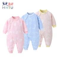 HHTU Newborn Quilted Cotton Keep Warm Baby Boys Girls Rompers Clothing Autumn Winter Infants Jumpsuits Boneless