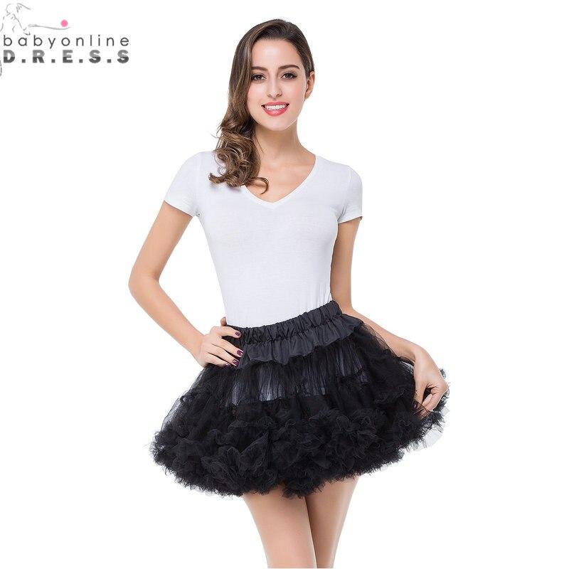 Petticoat Crinoline Ivory Ball-Gown Short Wedding-Dress Tulle Red 8-Colors Enaguas Sottoveste