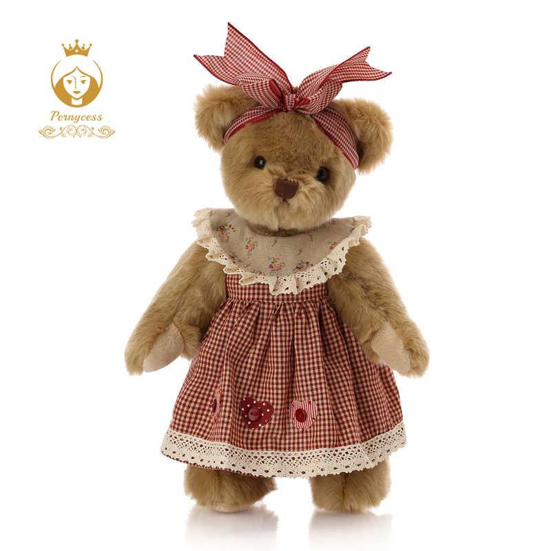 1 шт. 30 см милый ретро плюшевый мишка плюшевые мягкие игрушки, плюшевый медведь на шарнирах куклы, детские игрушки, успокаивающие куклы, подарок на день рождения