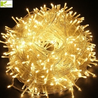 AC220V 50M/100M led String light colorful White Warm White pink christmas Holiday fairy Party Wedding Outdoor decoration lamp
