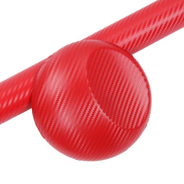 Franchise Red Fashion 3D Carbon 10/30x127CM Fiber Vinyl Sticker For Motorcycle Car Lpod Carbon Fiber Wrap Film Carbonne #0605