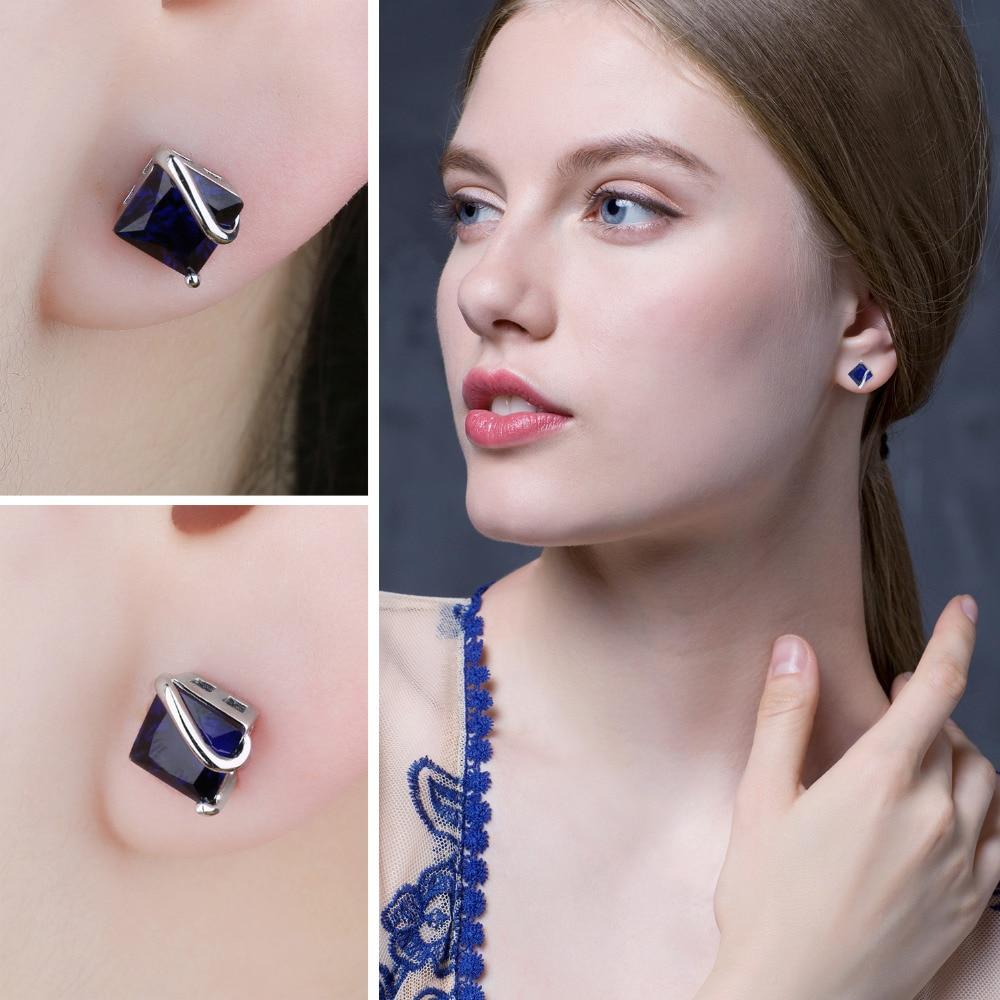 JewelryPalace Classic 2.8ct Ստեղծված Sapphire Stud - Նուրբ զարդեր - Լուսանկար 3