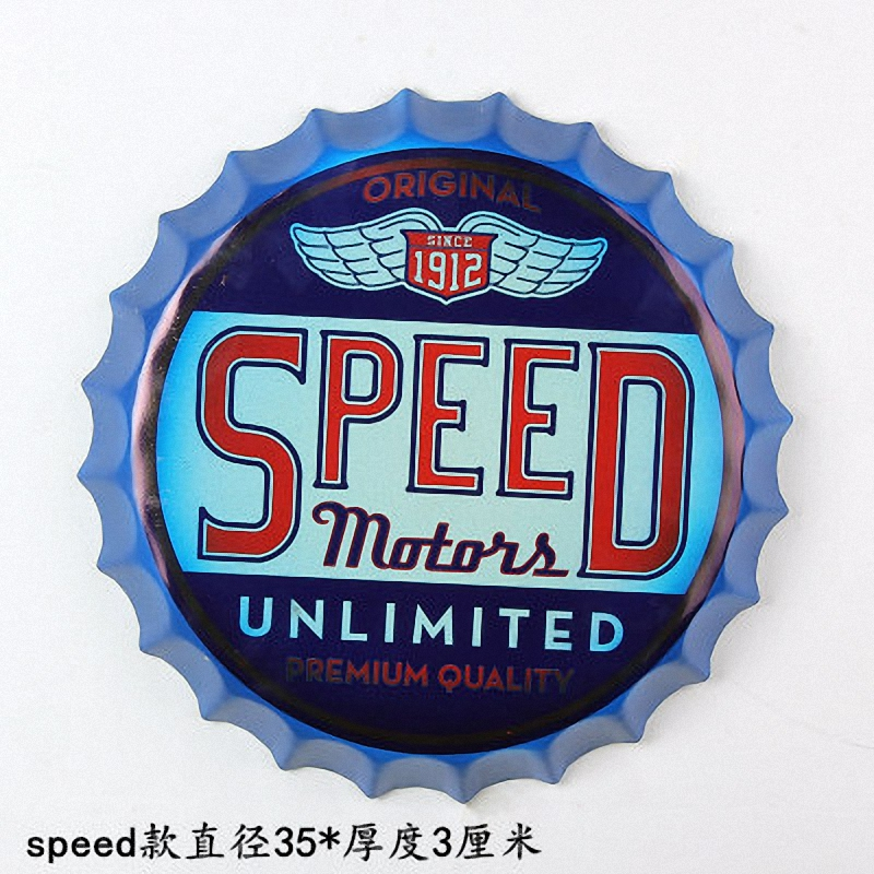 Tin Sign SPEED MOTOR  Vintage Metal Painting 3D Beer Cover Bar pub Hanging Ornaments Wal ...