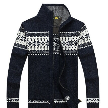 2015 NEW Brand Warm Thick mens Cardigans Sweaters Men ...
