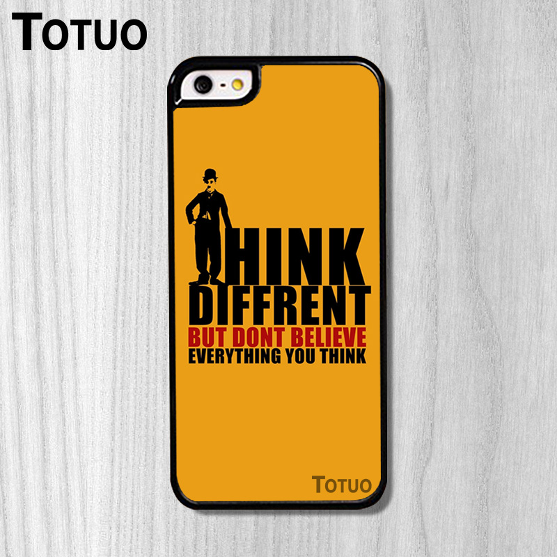 Hot sale Positive Thoughts Pattern DIY Custom made Durable Phone Parts Protection Case for iphone 5S And 4S 5C 6 6Plus 6S 6SPlus