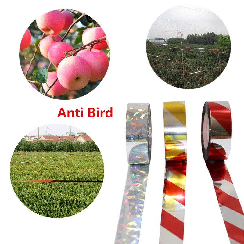 Anti Bird Tape 50M Scare Tape Audible Repellent Fox Pigeons Repeller Ribbon Tapes For Pest Control