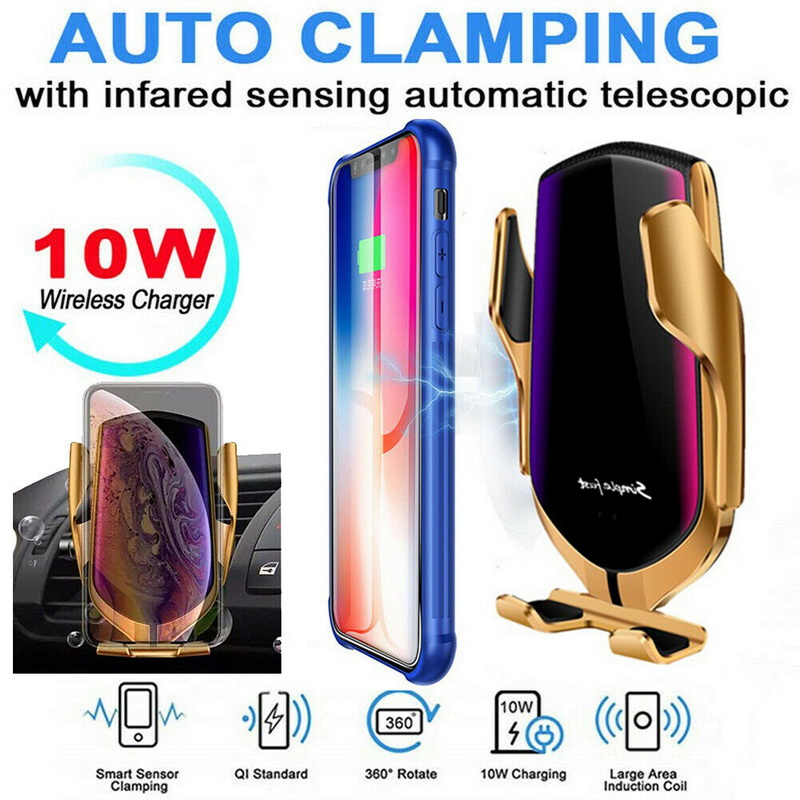 Wireless Car-Charger Smart-Phone Fast-Charging-Mount Automatic-Clamping S9 Huawei Samsung S8