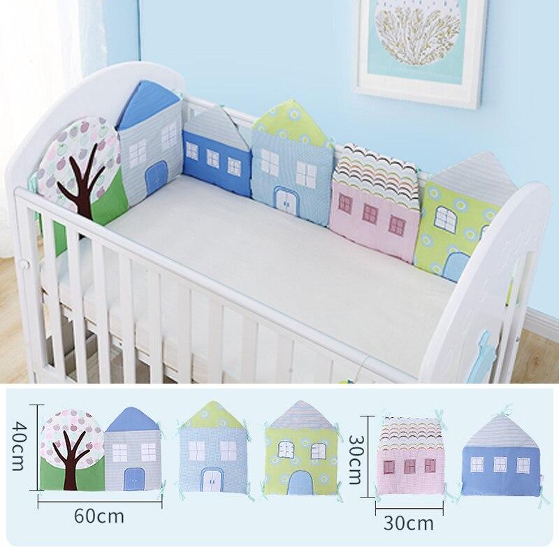 1-12 pc/lot Pour Bébé Berceau Lit Protecteur Bébé Enfants Coton Lit Bébé Pépinière literie Maison pare-chocs pour garçon et fille