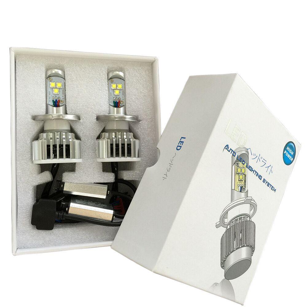 ФОТО MOSTPLUS New 2015 LED  Kit Headlight Hi/Lo H4 HB2 9003 6000K 60W 6000LM Whilte Bulbs Pair