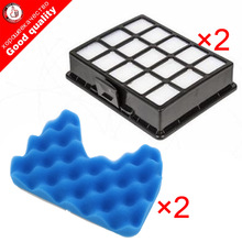 2set Vacuum cleaner filter spare part Kit Filters And Sponge Filter for samsung DJ97-00492A SC6520 SC6530 /40/50/60/70/80/90