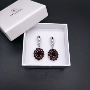 Image 5 - TBJ,natural gemstone black garnet earrings 925 sterling silver fine jewelry for woman birthday party & daily wear nice gift