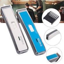 Novo 2019 moda nova carregada elétrica push-and-cut cabeleireiro casa mini cabeleireiro shaver maquiagem transporte da gota