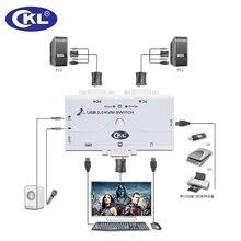 KVM коммутатор VGA 2 Порты и разъёмы USB 2.0 с Кабели Поддержка Аудио Микрофон Сканер Принтер высокого Разрешение 2048*1536 CKL-21UA