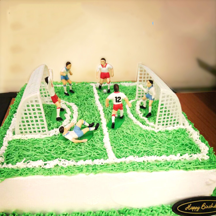 Soccer Football Cake Topper Set Decorations Birthday party Cake