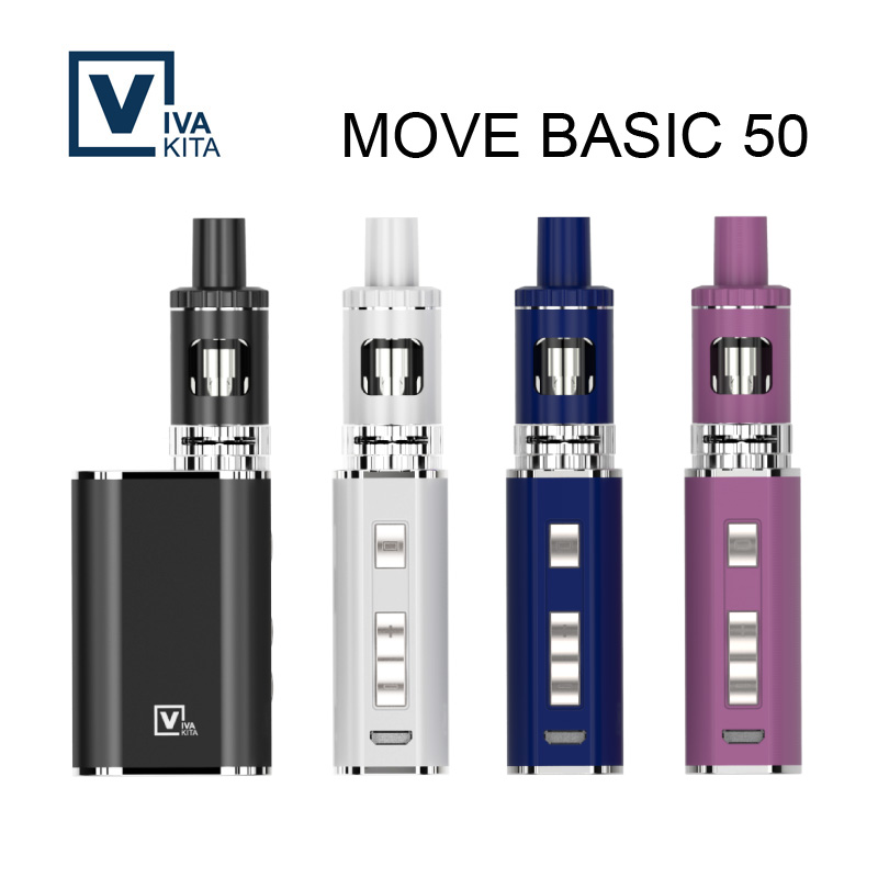 Vaporizer E Cigarette Vivakita Move Basic 50w Kit 2.0ml vape kit 50W vw mod built in 1100mAh Battery Mod 510 e cigarette box mod