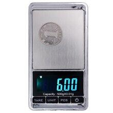 500 г x 0,01 г мини электронные цифровые ювелирные весы карманные грамм ЖК-дисплей скидка 20