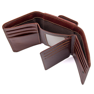 Image 3 - CICICUFF RFID Blocking Genuine Leather Men Wallet Brand Male Wallets Anti scanning Real Leather Short Purse with Coin Pocket