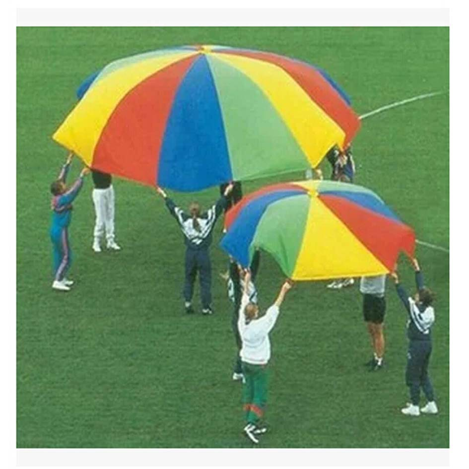 2M/3M/3.6M/4M/5M/6M Diameter Outdoor Rainbow Umbrella Parachute Toy Jump-Sack Ballute Play For Kids