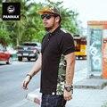 brand men's clothing plus size short polo 6xl 100% cotton black camouflage men fashion contrast color casual tops patchwork
