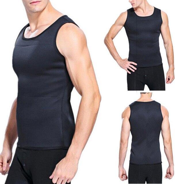 5ce12205ec Hot Wholesale Men Weight Loss Cincher Belt Men Body Shaper Vest Trimmer  Tummy Shirt Summer Hot Girdle T-shirt Trainning Exercise