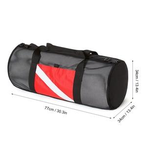 Image 4 - Mesh Duffel Gear Bag Snorkel Equipment Carry Bag for Mask Snorkel Fins Scuba Diving Surfing Gear Fitness sports Gym bag Unisex