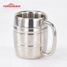 450 мл нержавеющая сталь Пивная чашка кружки Открытый Отдых Западная чай кофе чашки чашка с ручкой изоляцией портативная чашка для воды посуда для напитков
