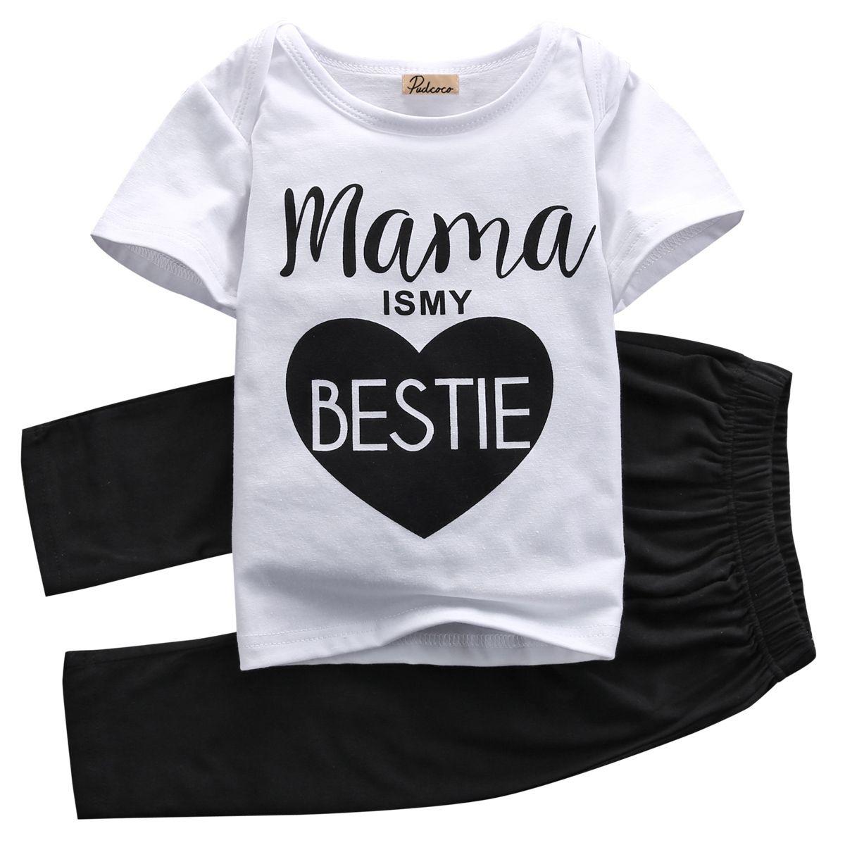 Newest 0-24M Newborn Baby Boys Girls Cotton Clothes Outfit Tops T Shirt + Trousers Tracksuit