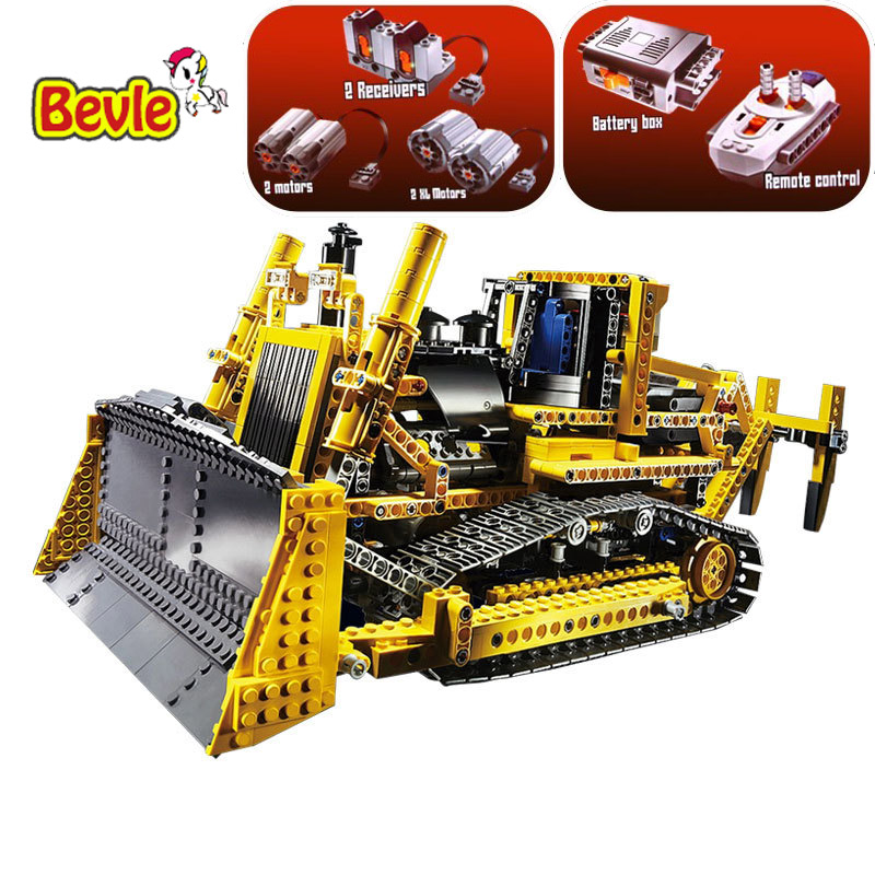 NEW LEPIN 20008 Technic Series 1384pcs The Bulldozer Model Building blocks Bricks kits Compatible with Lepin 42030 Toys