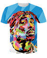 Alisister Más Reciente Tupac 2pac Camiseta Hiphop Moda Punk Rock Camiseta de Manga Corta Camisas Casuales mujeres/hombres Harajuku t-shirt Tops
