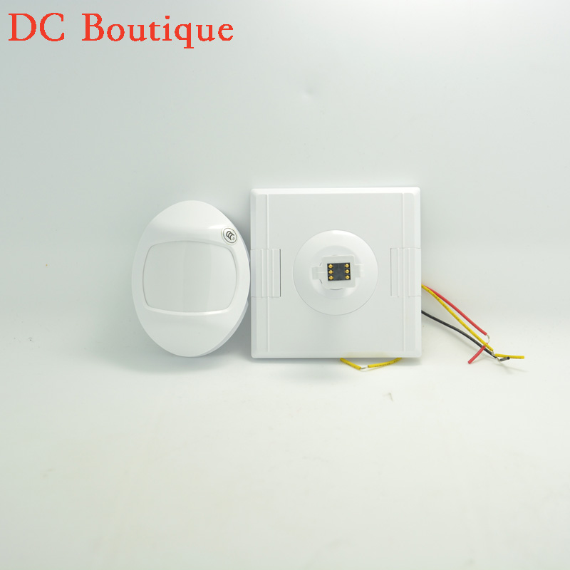 (1 PCS)Free shipping Pull-Flag Type Wide angle 110 degree PIR detector Wired Indoor Moiton sensor NC/NO Relay output options indoor 360 degree ceiling pir motion detector infrared sensor light switch nc no output options pir alarm intruder from douwin