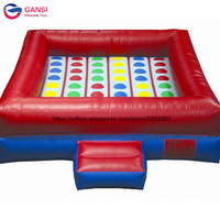 Hot popular multi person inflatable twister carnival games inflatable twister mattress for outdoor playing