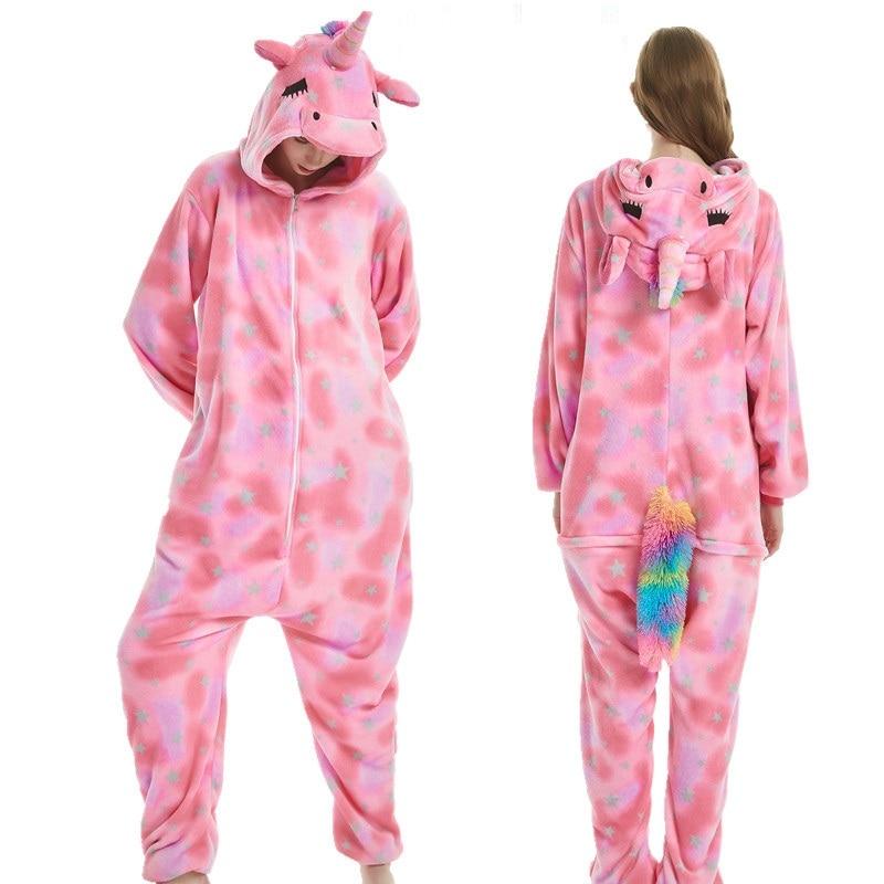 Image 4 - AFEENYRK unicorn Womens Soft comfortable Pajamas Set Sleepwear Loungewear Pajamas Unisex Homewear For girl/ boys/Sleepwear Adult-in Pajama Sets from Underwear & Sleepwears