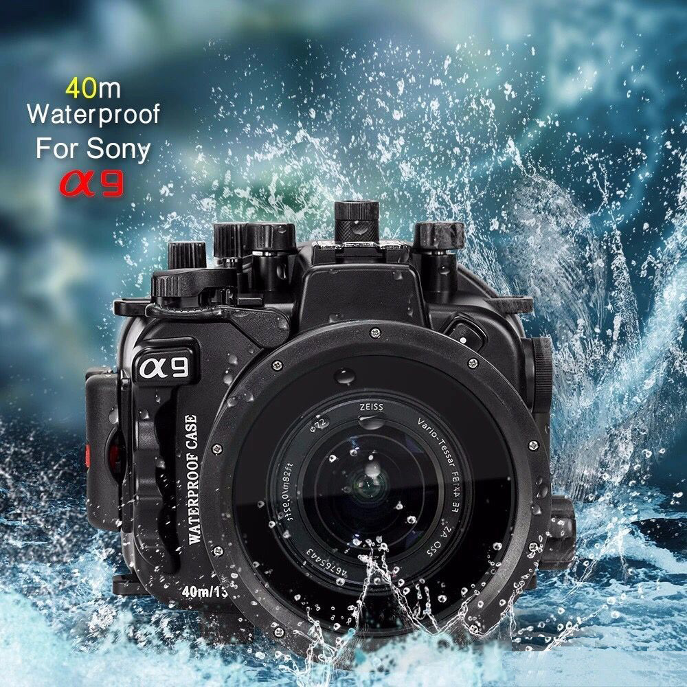 Seafrogs 40m/130ft Underwater Camera Housing Case For Sony A9 Camera Waterproof Bags for Sony A9 meikon 40m wp dc44 waterproof underwater housing case 40m 130ft for canon g1x camera 18 as wp dc44