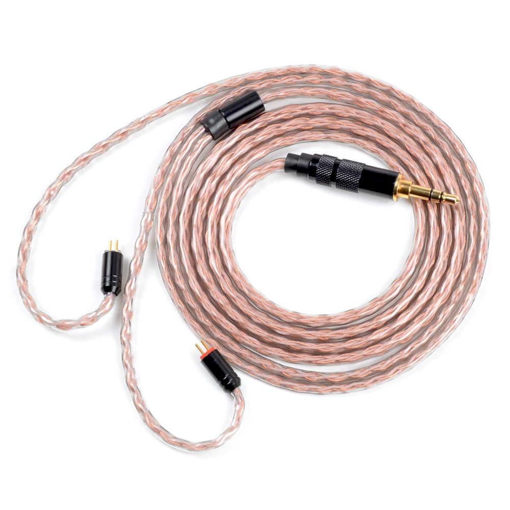 NICEHCK 8 rdzeniowy czysta miedź kabel MMCX/2Pin 4.4/3.5/2.5mm wyważone dla TRN V90/ v80 TFZ KZZSX/ZSN/ZS10CCAC10/C16 NICEHCK F3/NX7/M6