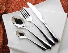 24Pcs Stainless Steel Cutlery Set Flatware Silverware Dinner Knife Spoon Fork Drop Shipping
