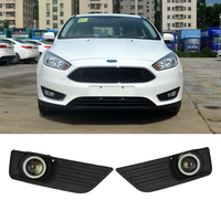 2Pcs White Lens Car Front Bumper Grill LED Fog Light Lower Grill With Wires For Ford