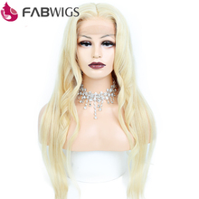 Fabwigs 613 Blonde Lace Front Human Hair Wigs with Baby Hair Brazilian Remy Hair Wigs For