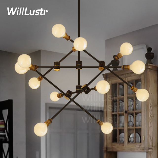 Willlustr iron arm turnable pendant lamp metal KINETIC 2 tier suspension light Vintage Dining room cafe hotel hanging Lighting