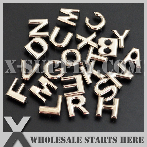 Where Can I Buy Metal Letters Free Shipping Diy Punk Metal Letter Studs With Prongs For Leather
