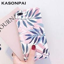 KASONPAI Fashion Artistic Leaf Phone Case For iPhon