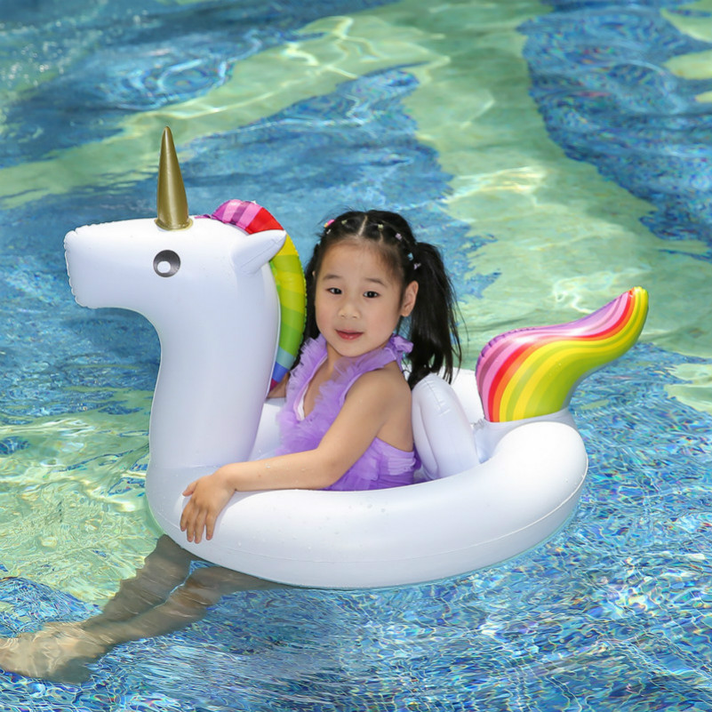 US $15.96 30% OFF|Baby Pool Float Unicorn Inflatable Boat Children  Inflatable Swimming Pool Loungers Kids Summer Fun Outdoor Pool Toys Float  Raft-in ...