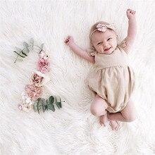 Одежда для маленьких девочек; Боди без рукавов; однотонная детская одежда с круглым вырезом; Детский костюм; Одежда для новорожденных